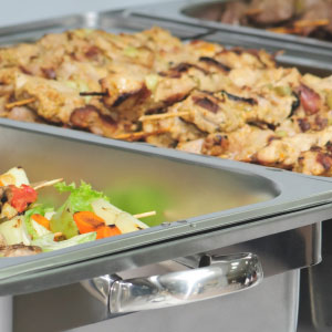 sample menu reception catering